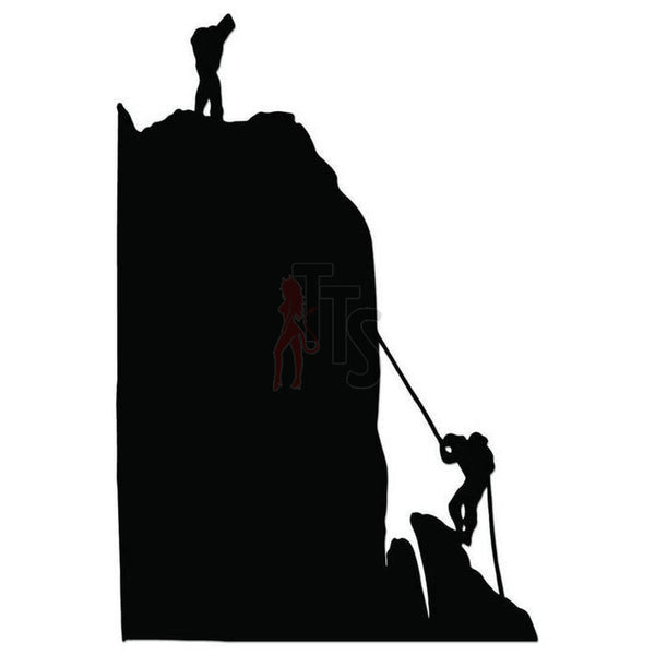 Rock Climbing Decal Sticker Style 1