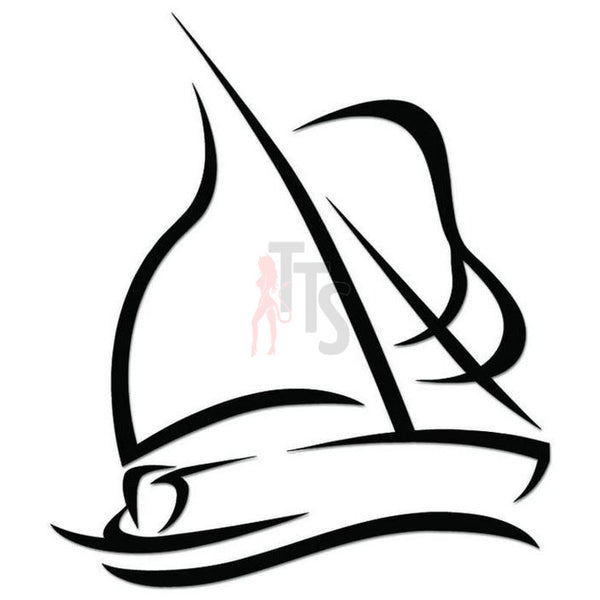 Sailing Sailboat Decal Sticker Style 1