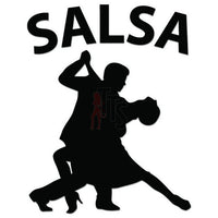 Salsa Dancing Decal Sticker