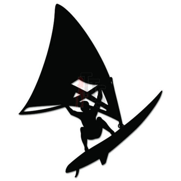 Windsurfing Surf Decal Sticker Style 1
