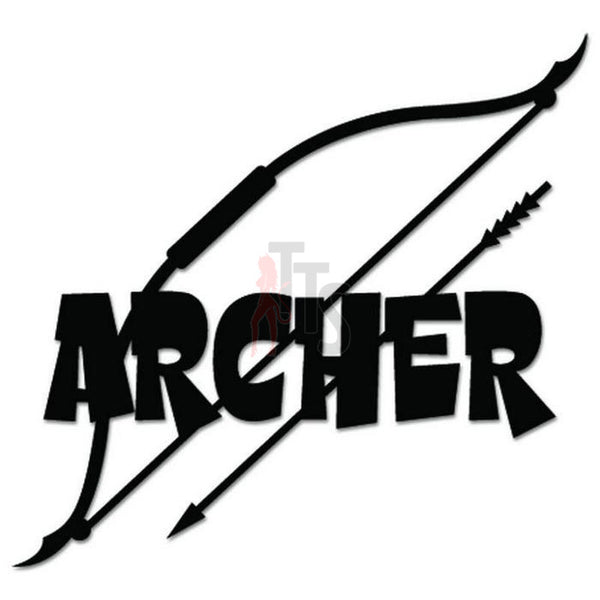 Archer Archery Bow Decal Sticker