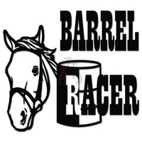 Barrel Racer Horse Cowboy Decal Sticker Style 1