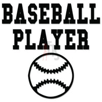 Baseball Player Decal Sticker