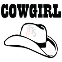 Cowgirl Stetson Hat Decal Sticker