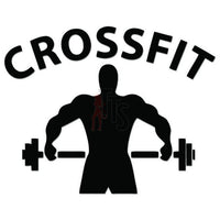 Crosfit Weight Training Decal Sticker