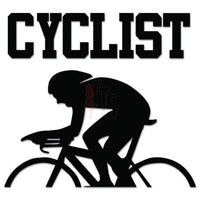 Cyclist Bicycle Decal Sticker