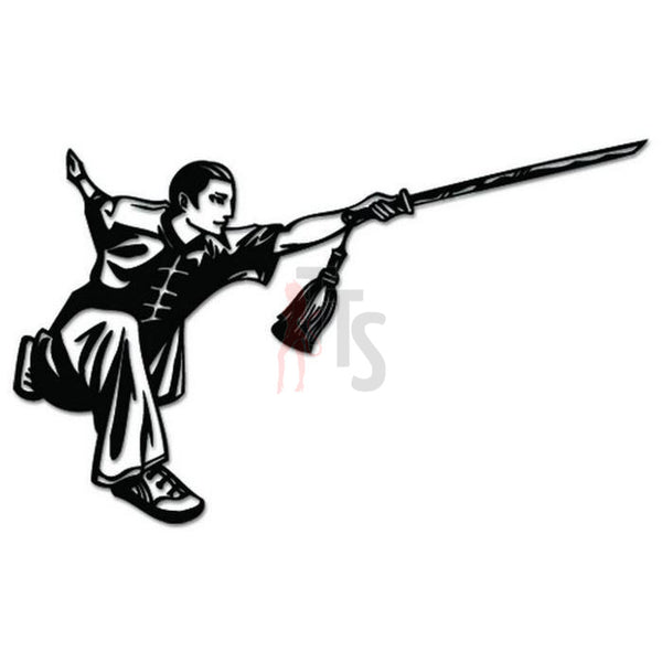 Chinese Martial Arts Sword Decal Sticker Style 1