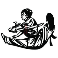 Chinese Martial Arts Sword Decal Sticker Style 2