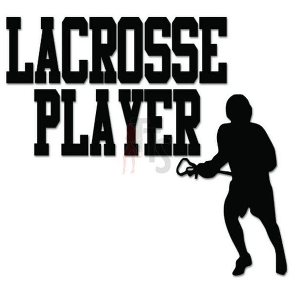 Lacrosse Player Decal Sticker