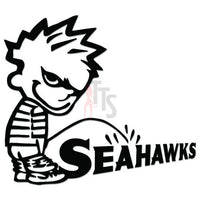 Piss Pee On Seahawks Football Decal Sticker