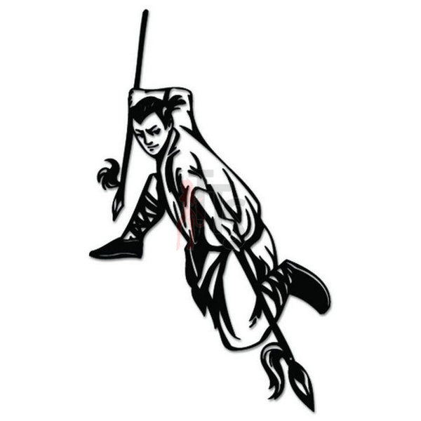 Chinese Martial Arts Spear Decal Sticker