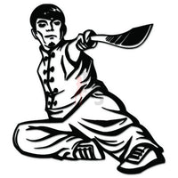 Chinese Martial Arts Sword Decal Sticker Style 3