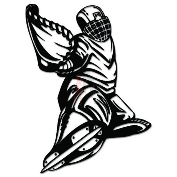Hockey Goalie Decal Sticker Style 1