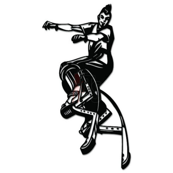Pogo Jumping Stilts Decal Sticker