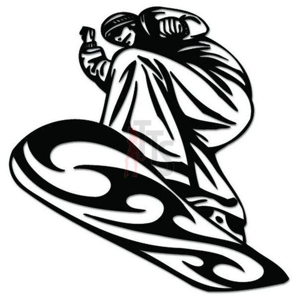 Snowboard Snowboarding Decal Sticker Style 3