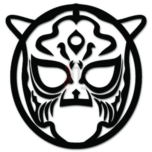 Lucha Libre Luchador Mask Mexican Wrestling Decal Sticker Style 2