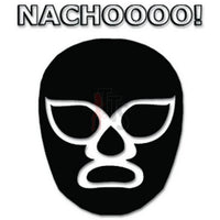 Lucha Libre Luchador Nacho Mask Decal Sticker