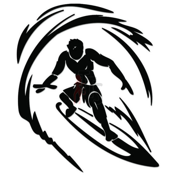 Extreme Surfing Surfboard Decal Sticker