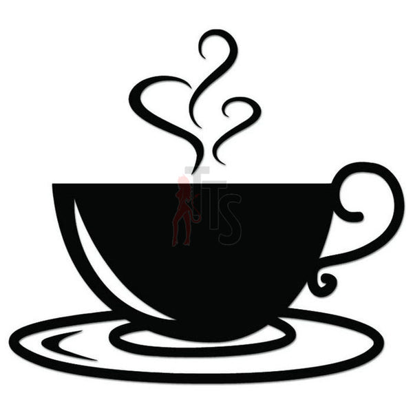 Coffee Cup Caffeine Decal Sticker Style 6