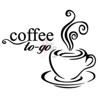 Coffee to Go Caffeine Decal Sticker
