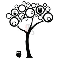 Owls Tree Decal Sticker