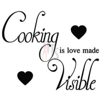 Cooking is Love Heart Kitchen Decal Sticker