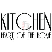 Kitchen Heart of the Home Decal Sticker Style 1