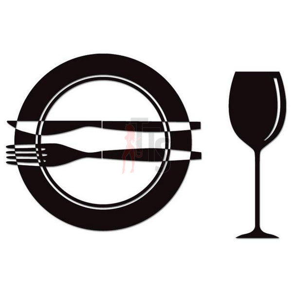 Dinner Wine Kitchen Decal Sticker