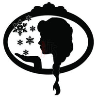 Winter Snowflakes Princess Decal Sticker
