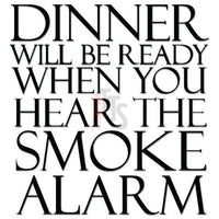 Dinner Smoke Alarm Funny Kitchen Decal Sticker