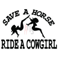 Ride a Cowgirl Horse Decal Sticker