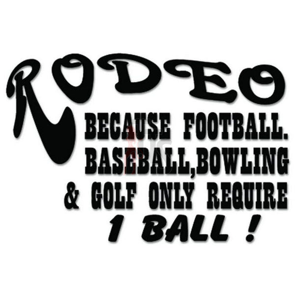 Rodeo Sports Ball Decal Sticker