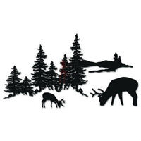 Deer Buck Family Animal Decal Sticker Style 5