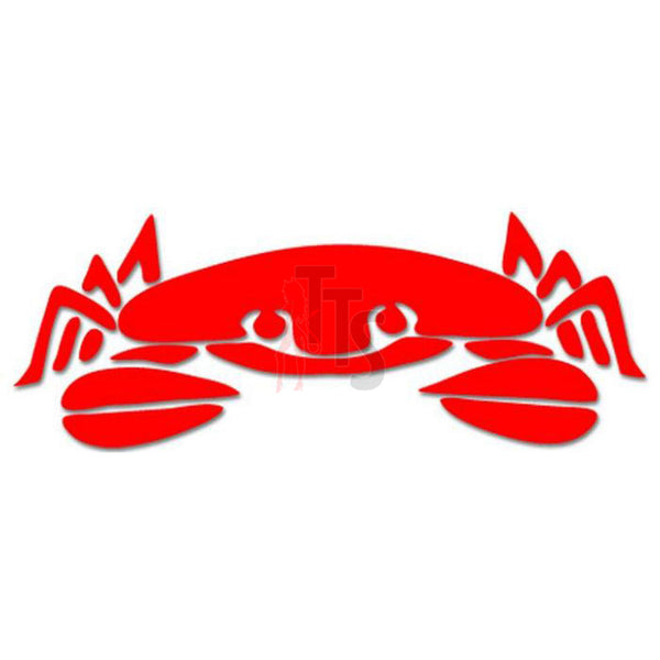 Crab Seafood Decal Sticker Style 4