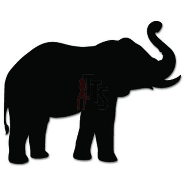 Elephant Animal Decal Sticker Style 2