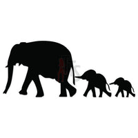 Elephant Family Animal Decal Sticker Style 2