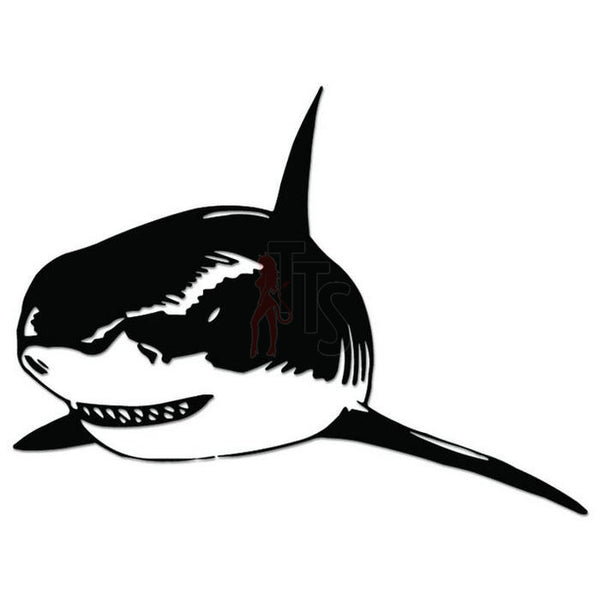 Shark Fish Decal Sticker Style 1