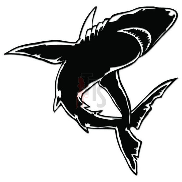 Shark Fish Decal Sticker Style 2