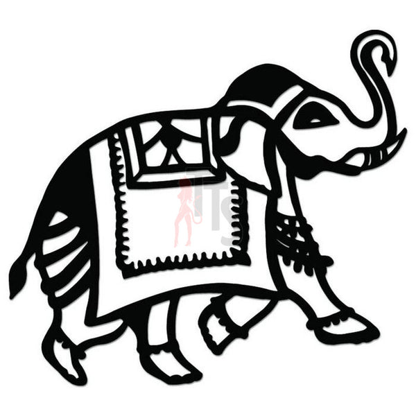 Indian Elephant Decal Sticker