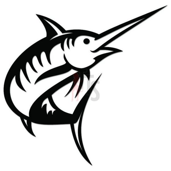 Marlin Fish Decal Sticker Style 3