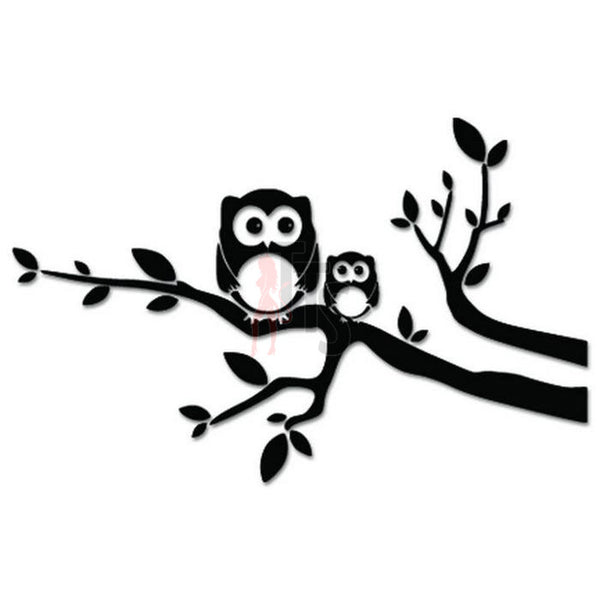 Owl Tree Brid Decal Sticker Style 4