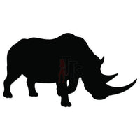 Rhino Animal Decal Sticker Style 2