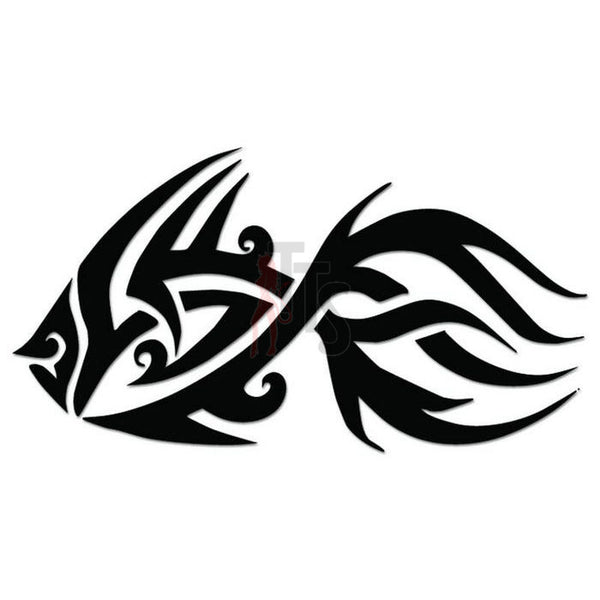 Goldfish Tribal Art Decal Sticker Style 1