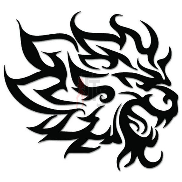 Lion Tribal Art Decal Sticker Style 4
