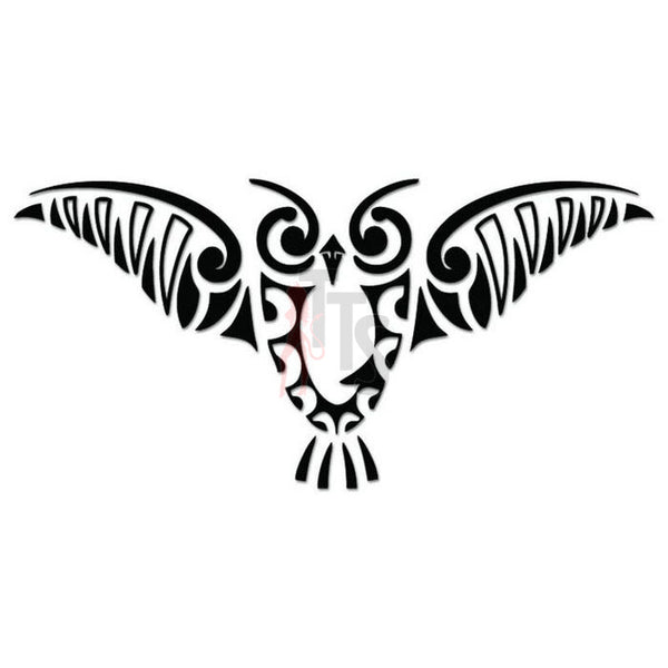 Owl Bird Tribal Art Decal Sticker Style 7