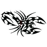 Scorpion Tribal Art Decal Sticker Style 3