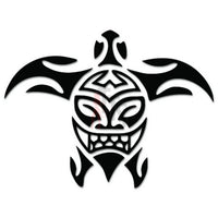Sea Turtle Tribal Art Decal Sticker Style 6