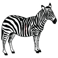 Zebra Animal Decal Sticker Style 1