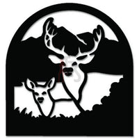 Deer Buck Animal Decal Sticker Style 15