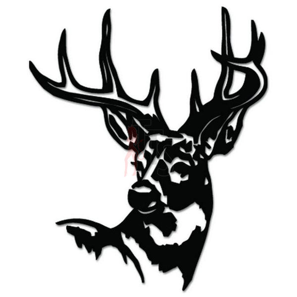 Deer Buck Animal Decal Sticker Style 19